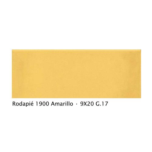 Plinthe intérieur vieillie 1900 9x20 cm JAUNE AMARILLO - 2mL Vives Azulejos y Gres