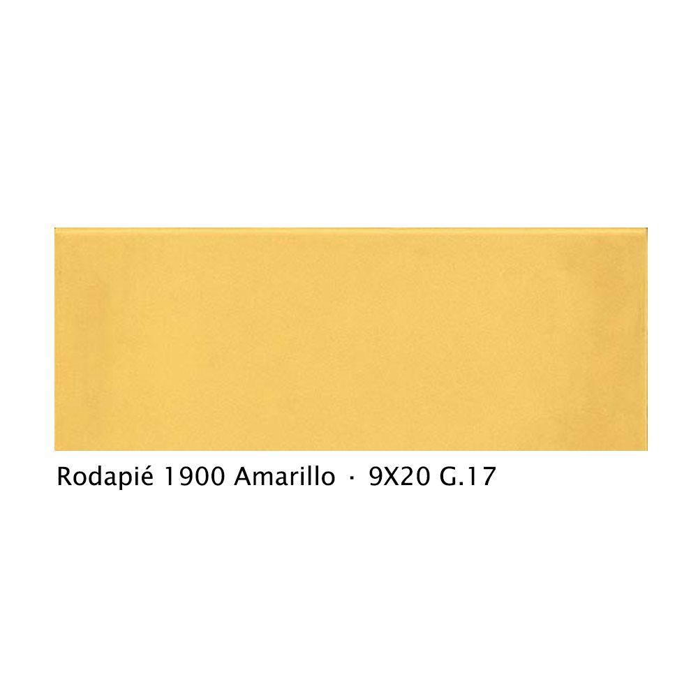 Plinthe intérieur vieillie 1900 9x20 cm JAUNE AMARILLO - 2mL - zoom