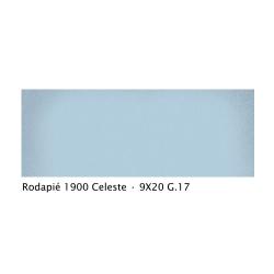 Plinthe intérieur vieillie 1900 9x20 cm BLEU CELESTE - 2mL Vives Azulejos y Gres