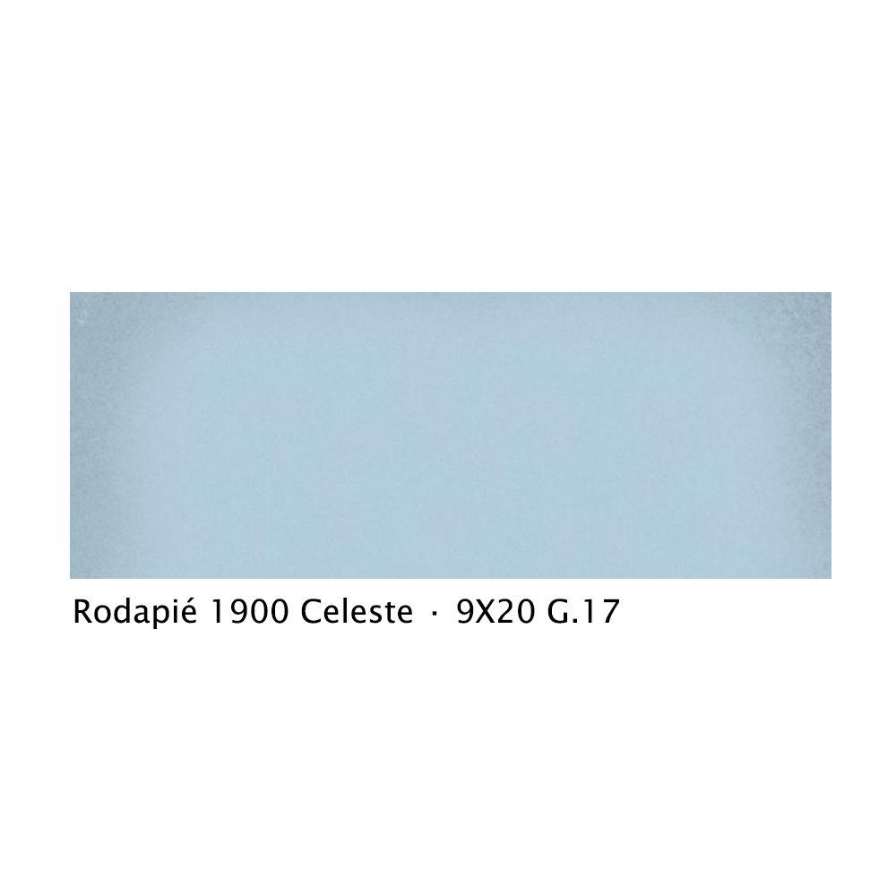 Plinthe intérieur vieillie 1900 9x20 cm BLEU CELESTE - 2mL - zoom