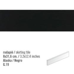 Plinthe intérieur Noir mat Negro 8x31.6 cm - 10.11mL Vives Azulejos y Gres