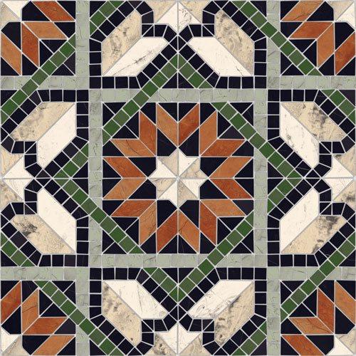 Carrelage mosaïque étoilé 43x43 Cilena Multicolor - 0.95m² Vives Azulejos y Gres