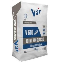 Joint fin classic pour carrelage V610 acier - 25 kg VPI