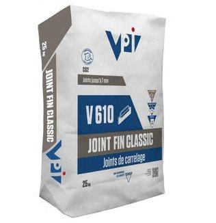 Joint fin classic pour carrelage V610 acier - 25 kg - zoom