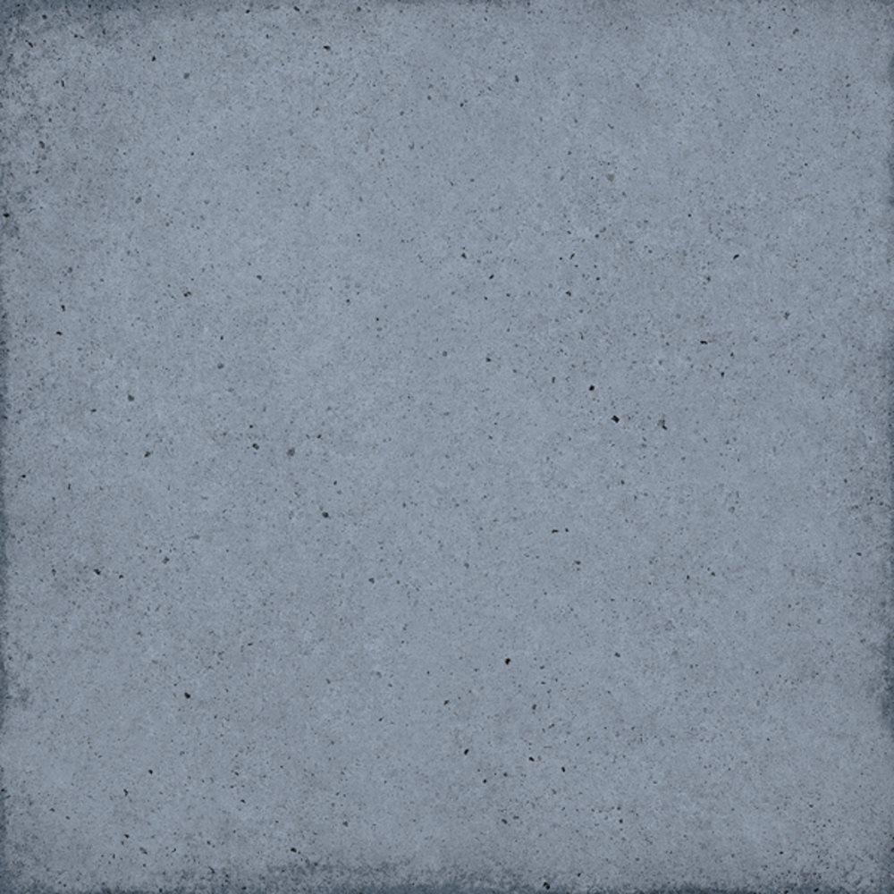 Carrelage uni vieilli bleu 20x20 cm ART NOUVEAU WOAD BLUE 24392 - 1m² - zoom