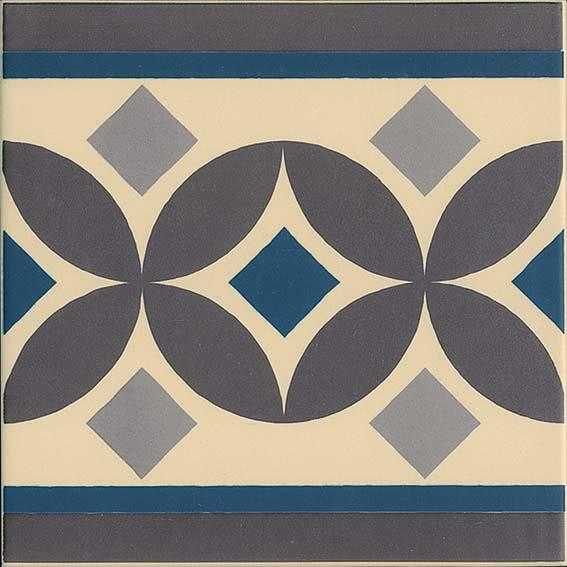 Carrelage imitation ciment bordure 20x20 cm GUELL-2 - 1m² - zoom