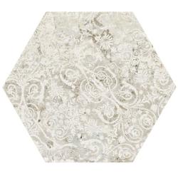 Carrelage tomette décors vieillis CARPET SAND NATURAL HEXAGON 25x29 cm - R9 - 0.935m² Aparici