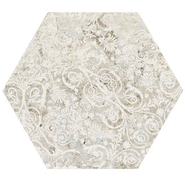 Carrelage tomette décors vieillis CARPET SAND NATURAL HEXAGON 25x29 cm - R9 - 0.935m² - zoom