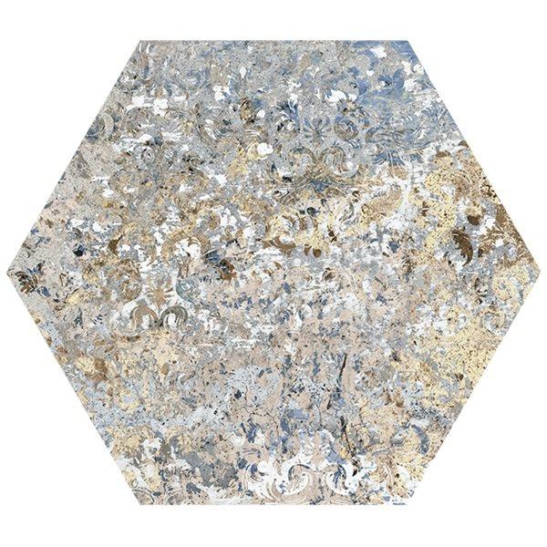 Carrelage tomette décors vieillis CARPET VESTIGE NATURAL HEXAGON 25x29 cm - R9 - 0.935m² - zoom