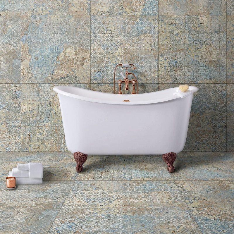 Carrelage décor subtil vieilli CARPET VESTIGE NATURAL 59.2x59.2 cm - R9 - 1.402m² - zoom
