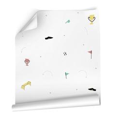 Papier peint design auto adhésif enfance FOOT SOCCER 65x260cm - vendu par 2 lés AP Decoration