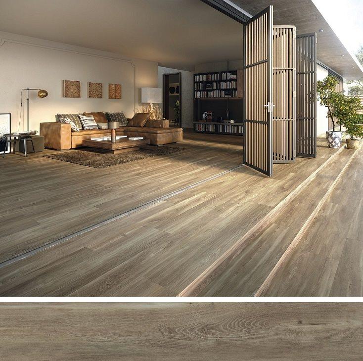 Carrelage extérieur effet bois 20x160 BELFAST WALNUT ANTIDERAPANT R11 - 1.28 m² - zoom