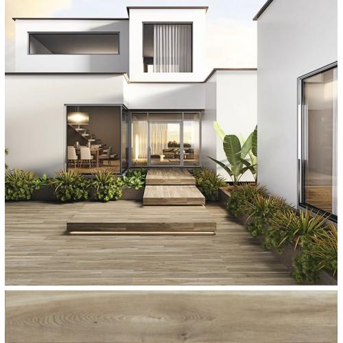Carrelage extérieur effet bois 20x160 BELFAST TEAK ANTIDERAPANT R11 - 1.28 m² Baldocer