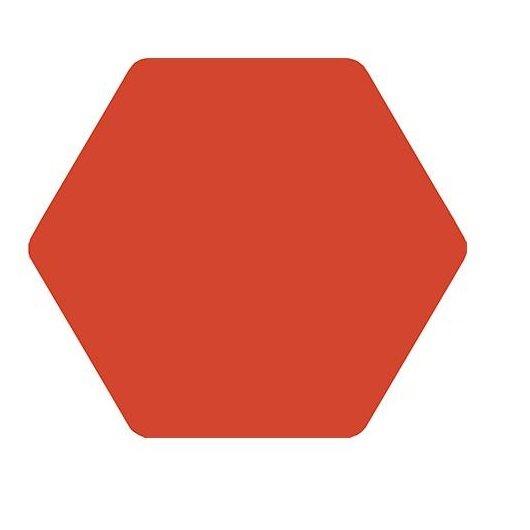 Carrelage tomette rouge 25x29cm TOSCANA ROJO- 1m² - zoom