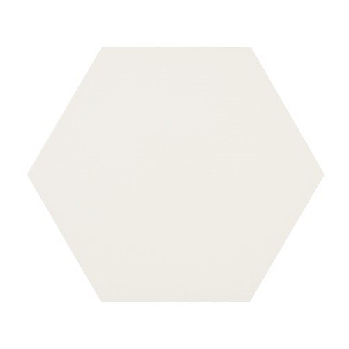 Tomette blanche MERAKI BASE BLANCO 19.8x22.8 cm - 0.84m² Bestile