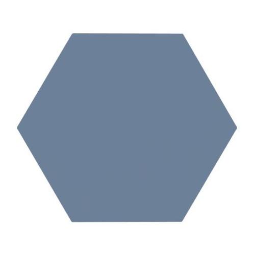 Tomette unie bleue série dandelion MERAKI AZUL BASE 19.8x22.8 cm - 0.84m² Bestile