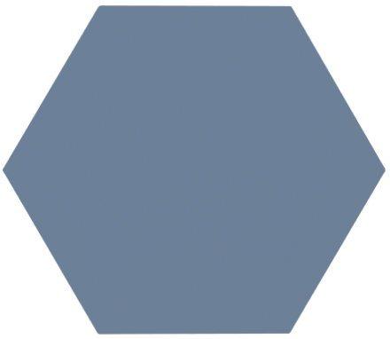 Tomette unie bleue série dandelion MERAKI AZUL BASE 19.8x22.8 cm - 0.84m² - zoom