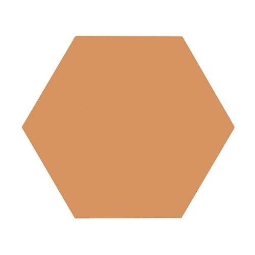 Tomette unie orange série dandelion MERAKI MOSTAZA BASE 19.8x22.8 cm - 0.84m² Bestile