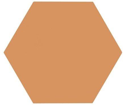 Tomette unie orange série dandelion MERAKI MOSTAZA BASE 19.8x22.8 cm - 0.84m² - zoom