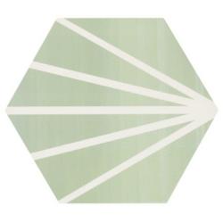 Tomette verte motif dandelion MERAKI VERDE 19.8x22.8 cm - 0.84m² Bestile