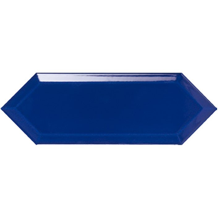 Faience navette biseautée bleue brillant 10x30 PICKET BEVELED SEA - 1m² - zoom