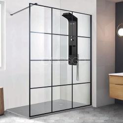 Paroi de douche style atelier fixe 1 panneau - CLUB 120 cm ASDC