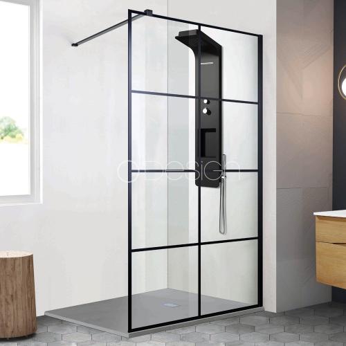 Paroi de douche style atelier fixe 1 panneau - CLUB 80 cm ASDC