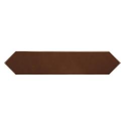 Faience navette crayon café marron brillant 5x25 cm ARROW COFFEE 25824 - 0.50 m² Equipe
