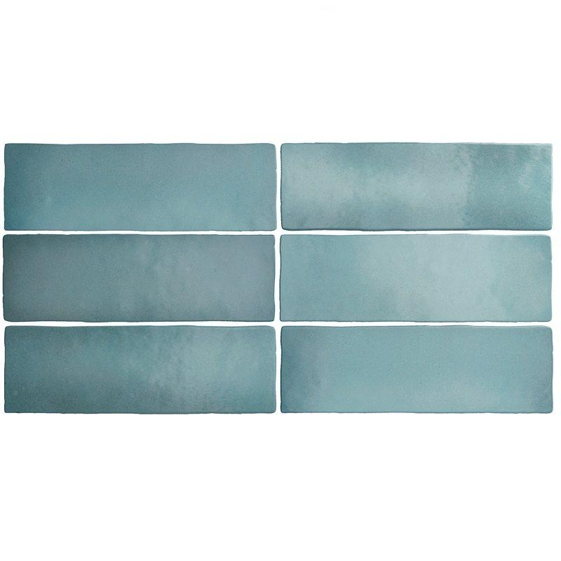 Faience dénuancée bleu clair 6.5x20 cm MAGMA AQUAMARINA 24966 - 0.5m² - zoom