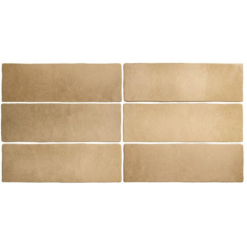 Faience dénuancée brun clair 6.5x20 cm MAGMA AUTOMN 24963 - 0.5m² - zoom