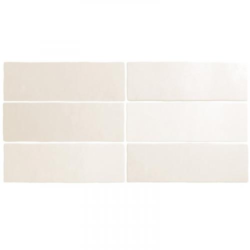 Faience dénuancée blanche 6.5x20 cm MAGMA WHITE 24958 - 0.5m² Equipe