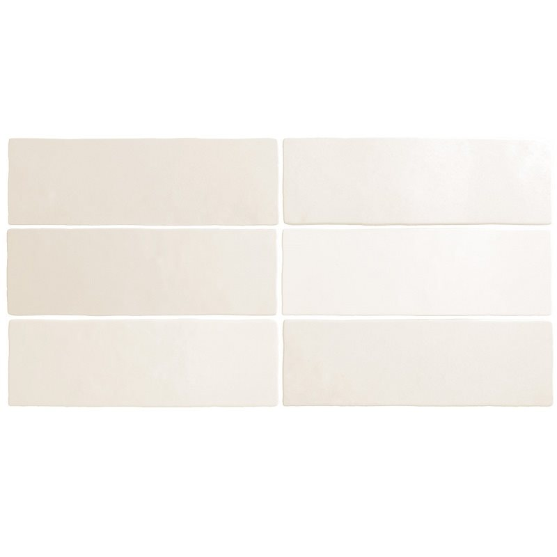 Faience dénuancée blanche 6.5x20 cm MAGMA WHITE 24958 - 0.5m² - zoom
