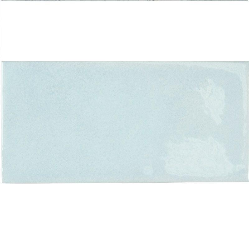 Faience effet zellige bleu ciel 6.5x13.2 VILLAGE CLOUD 25585- 0.5m² - zoom