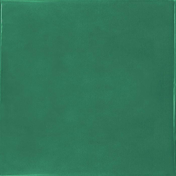 Faience effet zellige vert émeraude 13.2x13.2 VILLAGE ESMERALD GREEN 25595- 1 m² - zoom