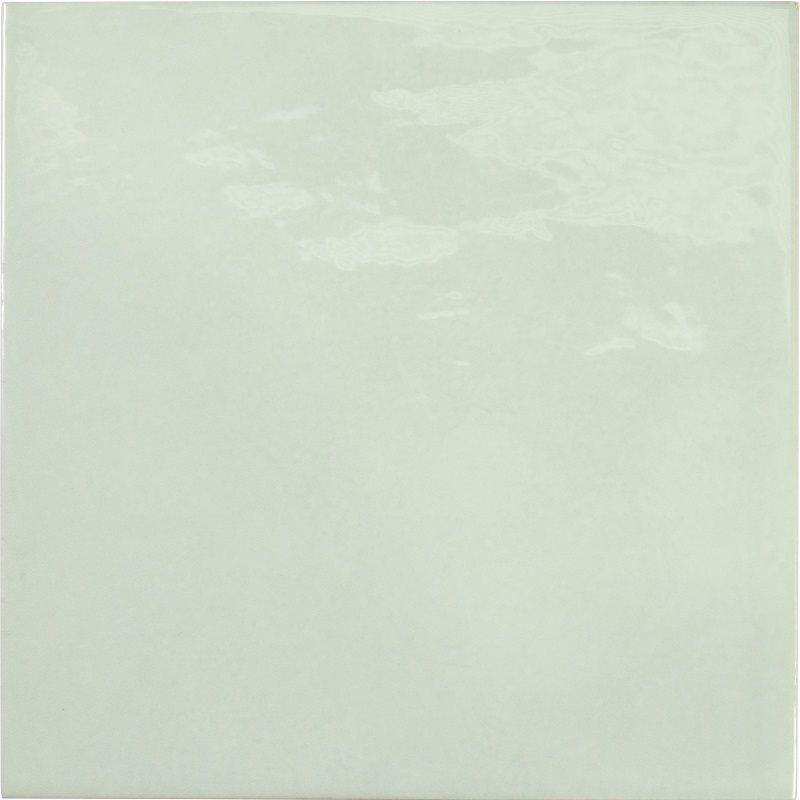 Faience effet zellige vert d'eau 13.2x13.2 VILLAGE MINT 25622 - 1 m² - zoom