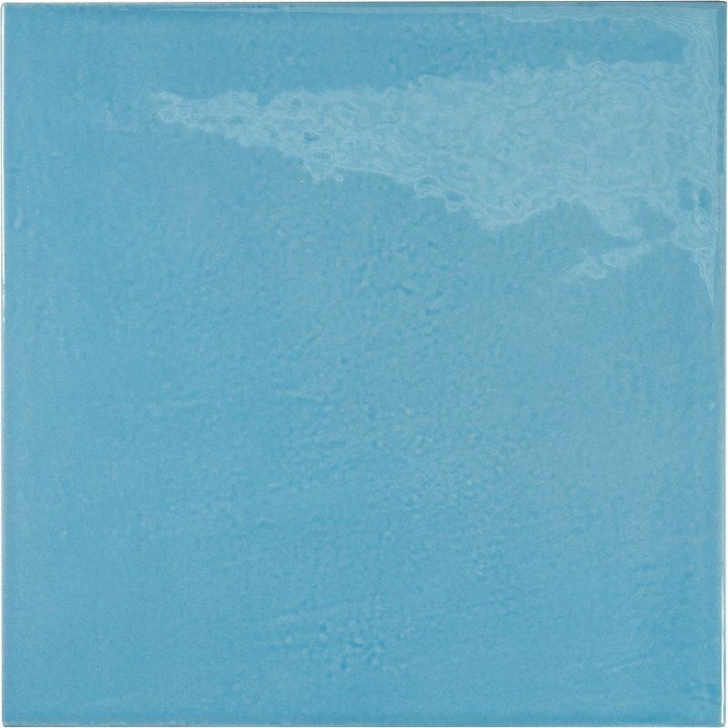 Faience effet zellige bleu azur 13.2x13.2 VILLAGE AZURE BLUE 25625 - 1m² - zoom