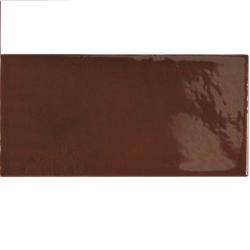 Faience effet zellige marron 6.5x13.2 VILLAGE WALNUT BROWN 25627 - 0.5 m² Equipe