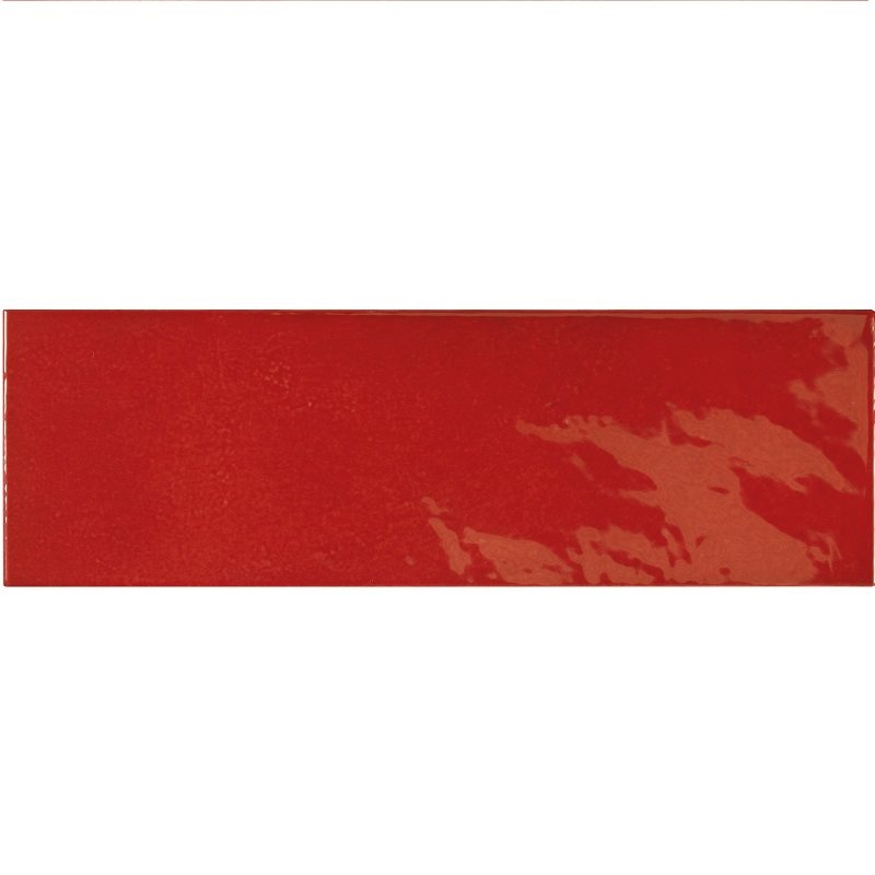Faience effet zellige rouge 6.5x20 VILLAGE VOLCANIC RED 25633 - 0.5m² - zoom