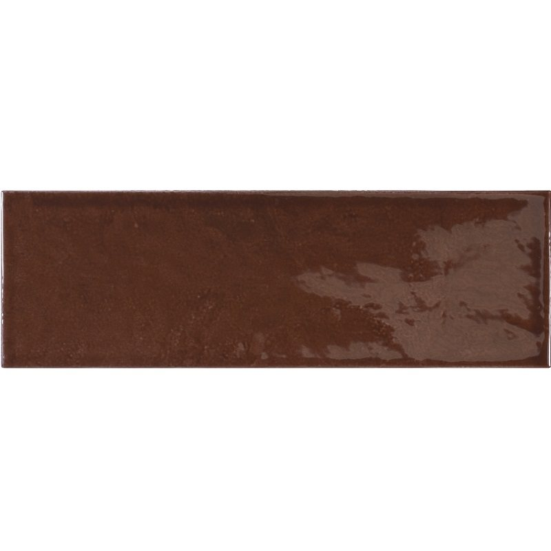 Faience effet zellige marron 6.5x20 VILLAGE WALNUT BROWN 25644 - 0.5 m² - zoom