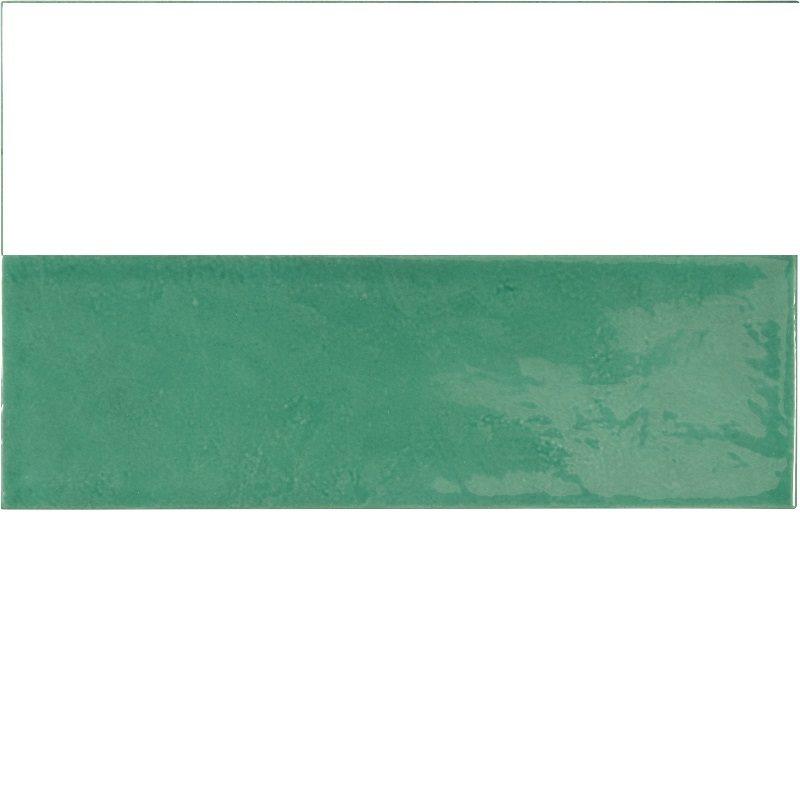 Faience effet zellige vert émeraude 6.5x20 VILLAGE ESMERALD GREEN 25645 - 0.5 m² - zoom