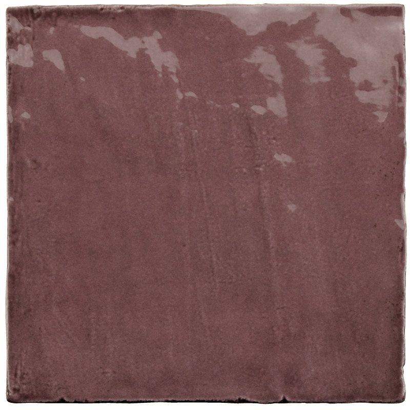 Faience nuancée effet zellige violet 13.2x13.2 RIVIERA JUNEBERRY 25858-1 m² - zoom