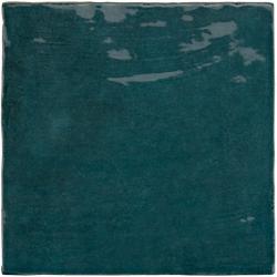 Faience nuancée effet zellige bleu canard 13.2x13.2 RIVIERA QUETZAL 25859- 1 m² Equipe
