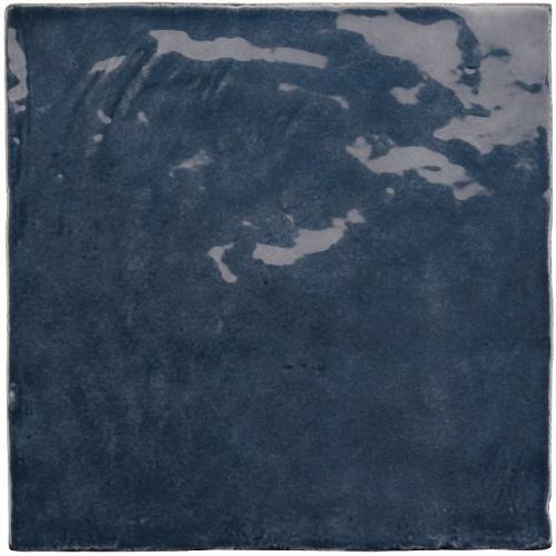 Faience nuancée effet zellige bleu roi 13.2x13.2 LA RIVIERA BLUE REEF 25861-1m² Equipe