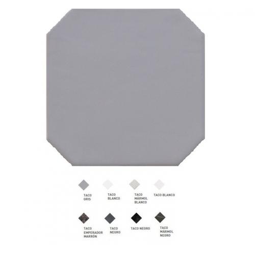 Carrelage octogonal à cabochons 20x20 OCTAGON GRIS 20555 - 1m² Equipe