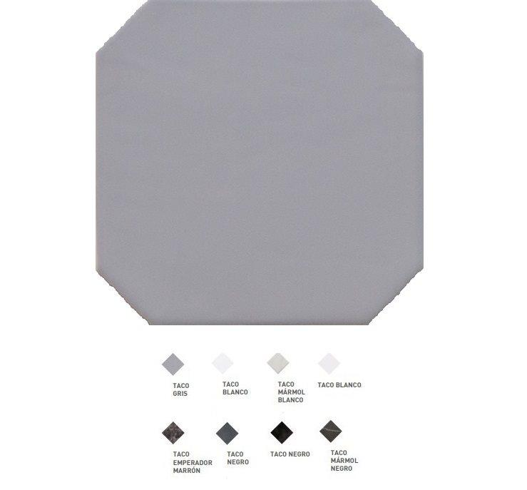 Carrelage octogonal à cabochons 20x20 OCTAGON GRIS 20555 - 1m² - zoom