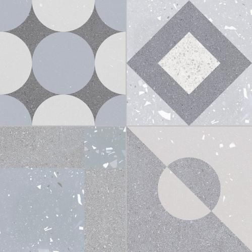 Carrelage style ciment terrazzo FUSION GREY 33x33 cm R9  - 1.32m² GayaFores