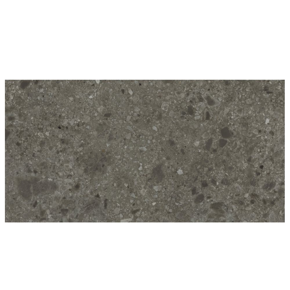 Carrelage anthracite imitation pierre 80x160cm HANNOVER BLACK NATURAL R10 - 1.28m² - zoom