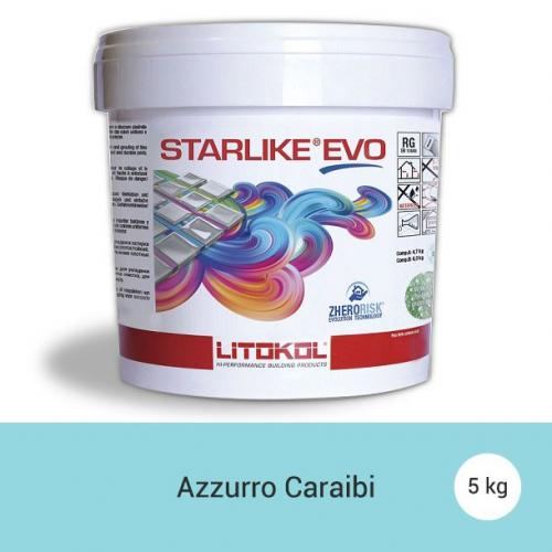 Litokol Starlike EVO Azzurro Caraibi C.320 Mortier époxy - 5 kg Litokol