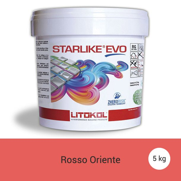Litokol Starlike EVO Rosso Oriente C.550 Mortier époxy - 5 kg - zoom