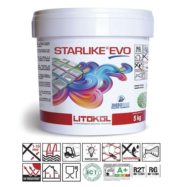 Litokol Starlike EVO Verde Pino C.430 Mortier époxy - 2.5 kg - zoom